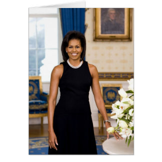 Official Portrait of First Lady Michelle Obama Card