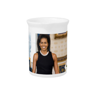 Official Portrait of First Lady Michelle Obama Pitcher