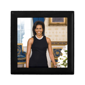 Official Portrait of First Lady Michelle Obama Small Square Gift Box