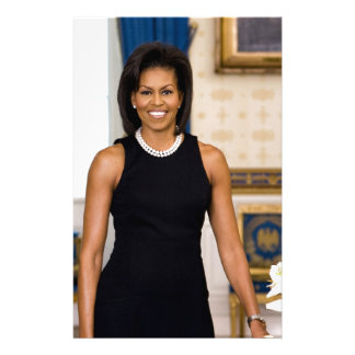Official Portrait of First Lady Michelle Obama Stationery