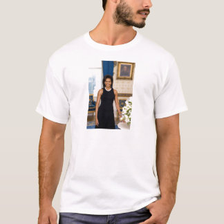 Official Portrait of First Lady Michelle Obama T-Shirt