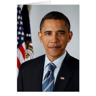 Official Portrait of president Barack Obama Greeting Card