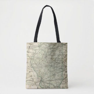 Official railroad map of Illinois Tote Bag