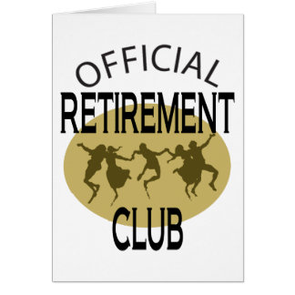 Official Retirement Club Greeting Cards