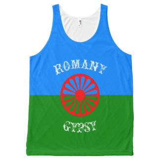 Official romany gypsy flag All-Over print singlet