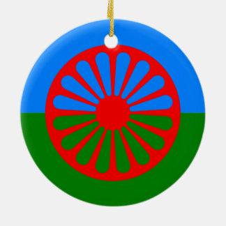 Official Romany gypsy flag Ceramic Ornament