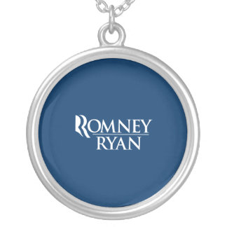 OFFICIAL ROMNEY RYAN LOGO -.png Round Pendant Necklace