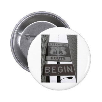 Official Route 66 begin sign 6 Cm Round Badge