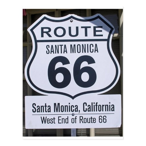 Official Route 66 end sign santa monica Post Card