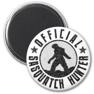 Official Sasquatch Hunter - Bigfoot in B/W Grunge 6 Cm Round Magnet