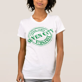 Official Seven City Stamp - Green Stamp Tee Shirt
