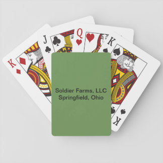 Official Soldier Farms, LLC playing cards