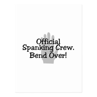 Official Spanking Crew Bend Over Postcard