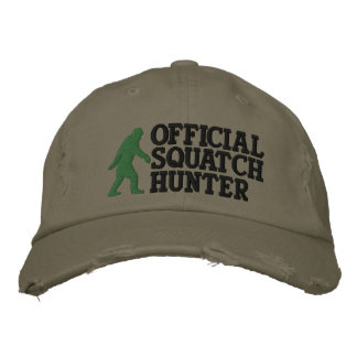 Official squatch hunter * large logo version* embroidered hat