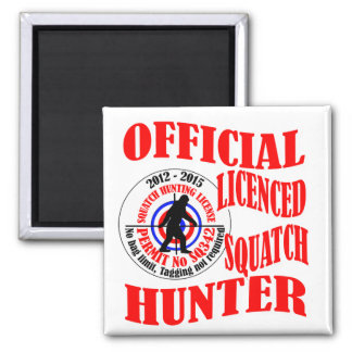Official squatch hunter square magnet
