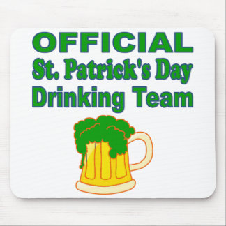 Official St Patrick s Day Drinking Team Mousepad