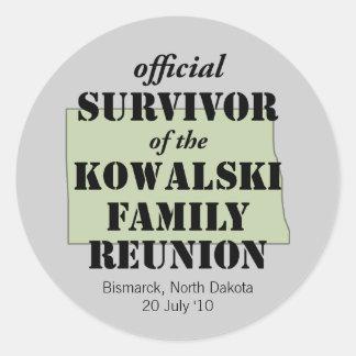 Official Survivor green Round Stickers