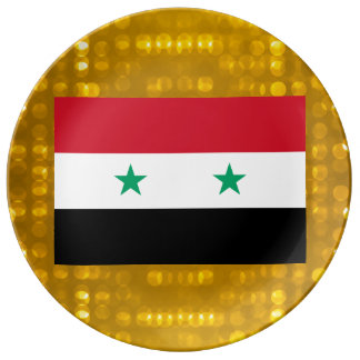 Official Syrian Flag Plate