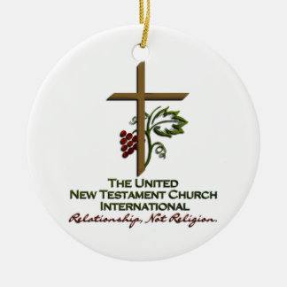 Official UNTCI Member Gear Round Ceramic Decoration