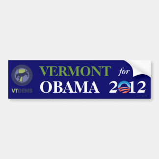 Official Vermont for OBAMA 2012 bumper sticker