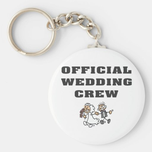 Official Wedding Crew Key Chain