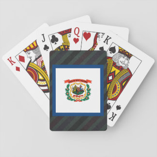 Official West Virginia Flag on stripes Poker Deck
