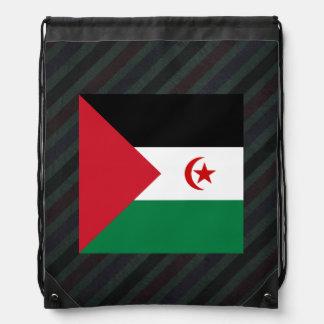 Official Western Sahara Flag on stripes Backpack