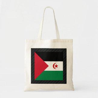 Official Western Sahara Flag on stripes Budget Tote Bag