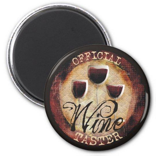 Official Wine Taster button sticker 6 Cm Round Magnet