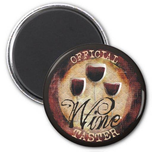 Official Wine Taster button sticker Refrigerator Magnet