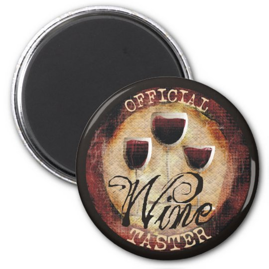Official Wine Taster button sticker Magnet