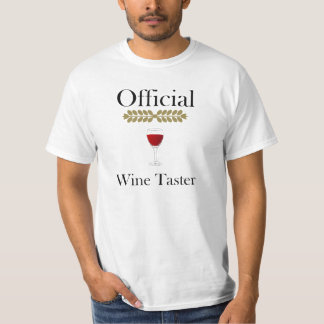 Official Wine Taster t-shirt