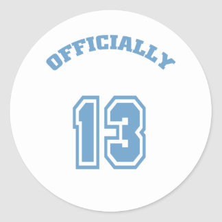 Officially 13 classic round sticker