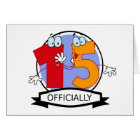 Officially 15 Birthday Banner Card