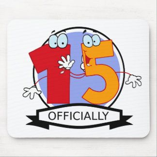 Officially 15 Birthday Banner Mouse Pad