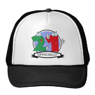 Officially 21 Birthday Banner Trucker Hat