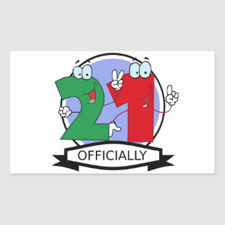 Officially 21 Birthday Banner Stickers