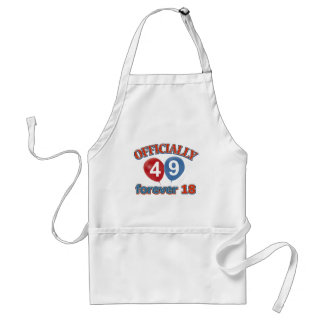 Officially 49 forever 18 standard apron