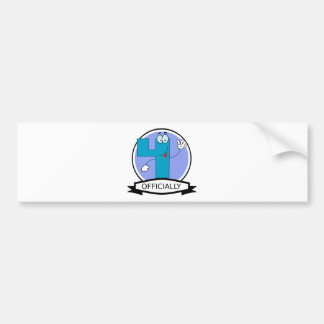 Officially 4 Birthday Banner Bumper Sticker