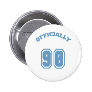 Officially 90 6 cm round badge
