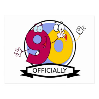 Officially 90 Birthday Banner Postcard
