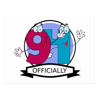 Officially 94 Birthday Banner Postcard