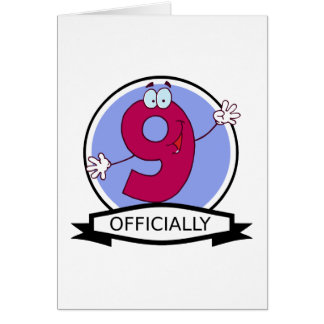 Officially 9 Birthday Banner Card