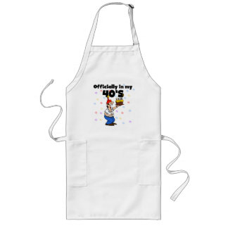 Officially in my 40s long apron