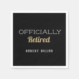 Officially Retired custom party napkins Paper Napkin