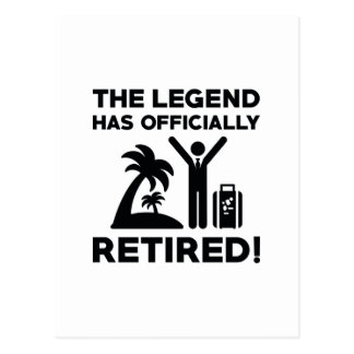 Officially Retired Postcard