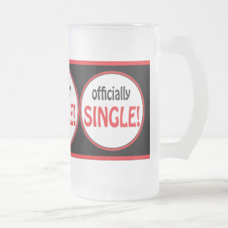 Officially Single and Divorce Frosted Glass Mug