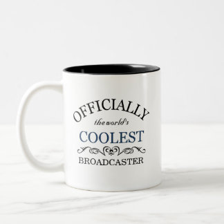 Officially the world's coolest Broadcaster Two-Tone Mug
