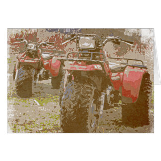 Offroad ATC All Terrain Cycle Distressed Grunge Greeting Card