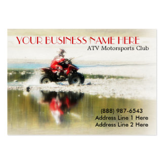 Offroad Quad - Sports action  4x4 photograph Business Card Template
